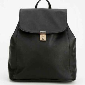90's Style Minimalist Chic Faux Leather Backpack